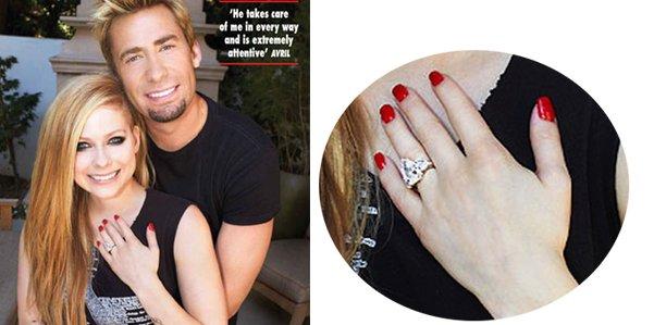 Avril Lavigne Matrimonio In Nero : L anello di fidanzamento avril lavigne fashion bride