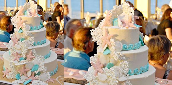 Una Torta Nuziale A Tema Mare Con Coralli E Conchiglie Pictures to pin ...