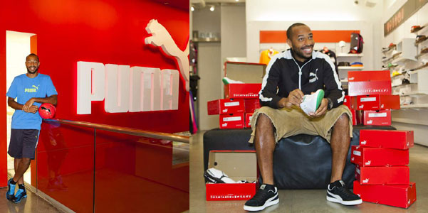 Thierry Henry con Puma