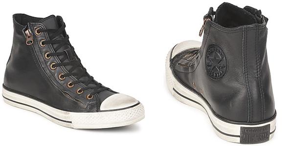 scarpe converse pelle nera