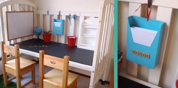 E la culla si trasforma in una scrivania ohmybaby for Mobilia lavagna