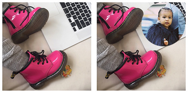 North West ha un paio di Dr Martens rosa
