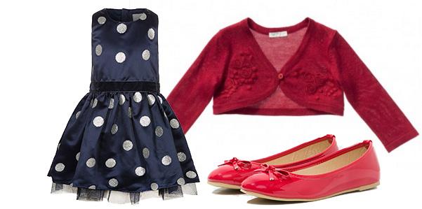Blu, rosso e argento per l' outfit delle feste