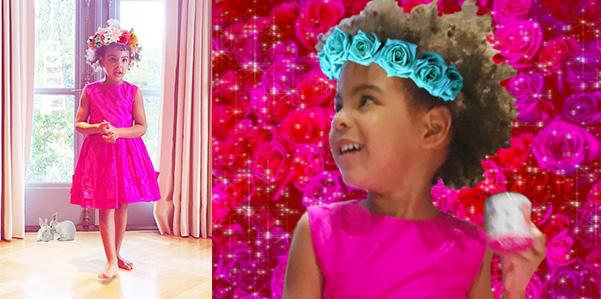 Blue Ivy Carter sceglie il fucsia per l' outfit di Pasqua