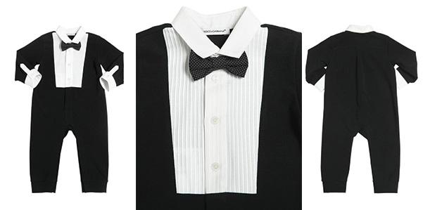 Dolce e Gabbana, tuxedo per neonati