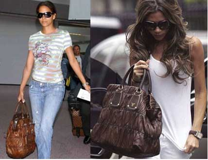 Celebrities with the same accessories//clothes as Victoria Gauffre-bag