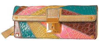 Colorful bag clutch