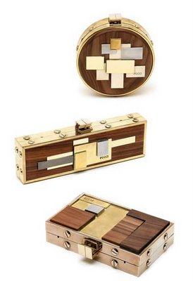 Wood clutch per Pucci