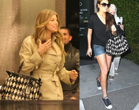 Celebrity Style: Fergie e Lindsay Lohan scelgono Miss Pocket patchwork di Dolce&Gabbana p/e 08