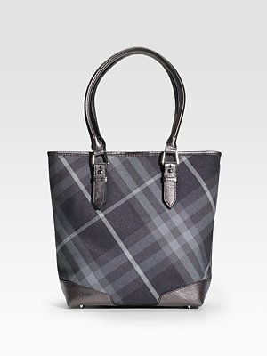 burberry metallic check tote