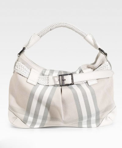 Burberry belted canvas hobo