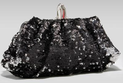 Christian Louboutin sequined clutch black