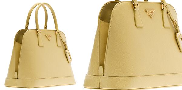 leather bag prada - Prada Saffiano in giallo