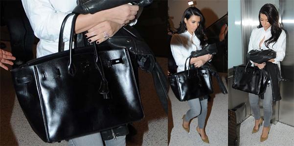 white hermes birkin bag - Kim Kardashian So Black Birkin Herm��s