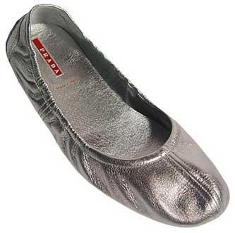 Ballerine Scarpe on Ballerine Silver Prada Sport