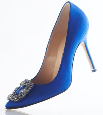 Blue Satin Pump