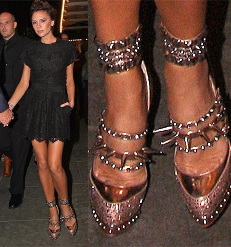 Victoria Beckham e le scarpe di Louboutin per Rodarte 1443a6f1534