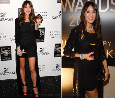 La fondatrici di Jimmy Choo ha ritirato il premio Designer Brand of the Year