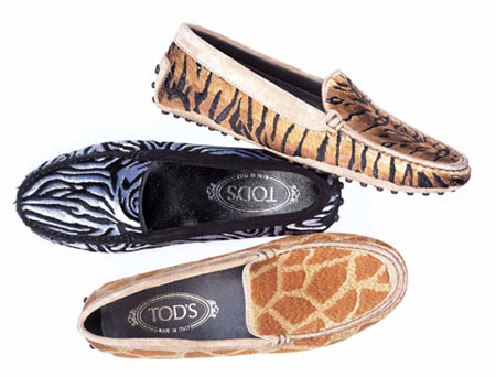 Tod's Gommini limited edition animalier