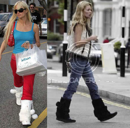 Paris Hilton e Kate Moss