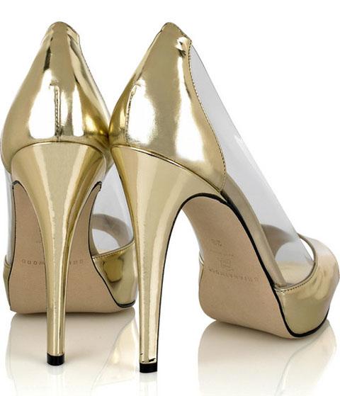 Scarpe Tacchi Oro
