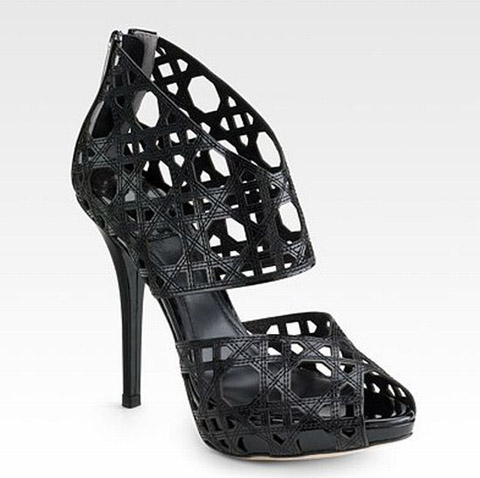 Miss Dior caged ankle boot