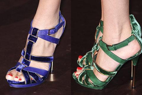 Gucci sandali velluto pe 2011