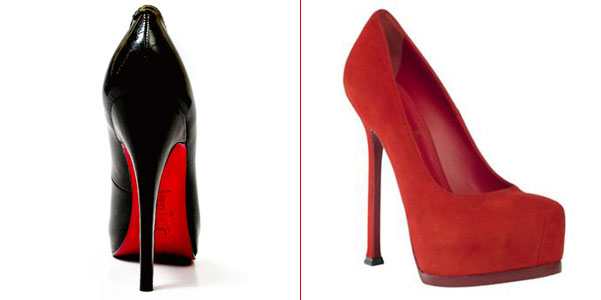 louboutin scarpe nere suola rossa