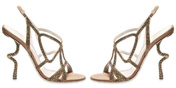 sandali cristalli Sergio Rossi