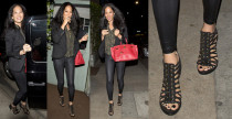 Kimora Lee Simmons in sandali Givenchy