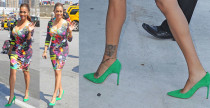 LaLa Anthony in Manolo Blahnik