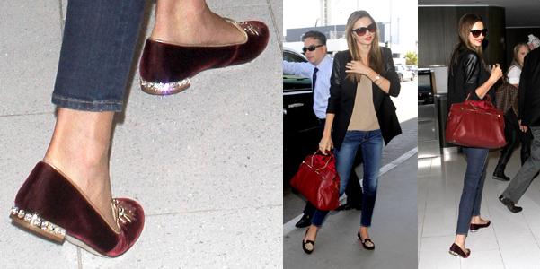 Miranda Kerr Miu Miu Slippers