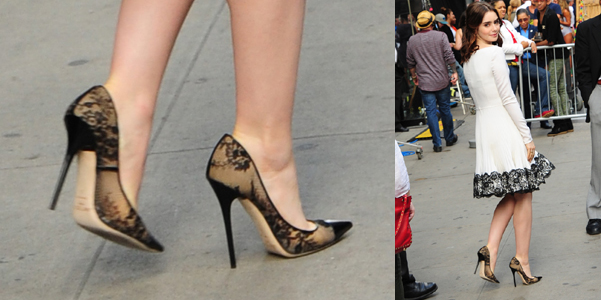 Lily Collins Jimmy Choo