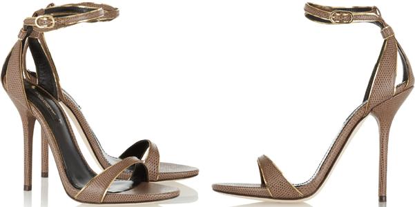 Dolce e Gabbana sandali lucertola