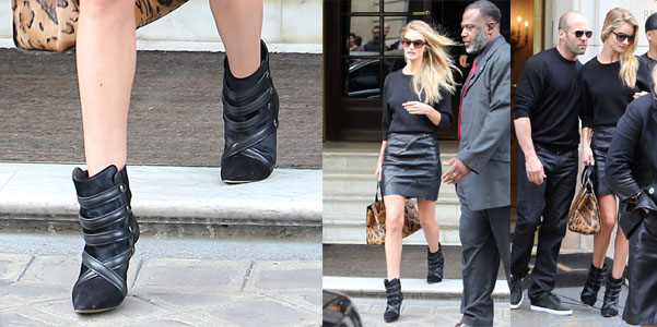 Rosie Huntington-Whiteley Isabel Marant booties