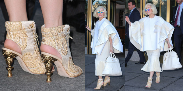 Lady Gaga scarpe Chanel