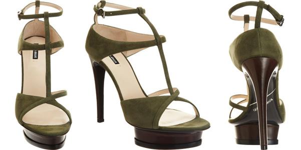 Armani sandali verdi