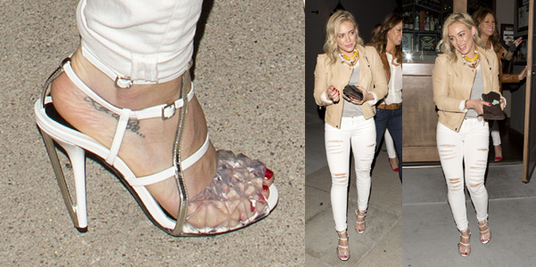Hilary Duff Fendi sandali 2014