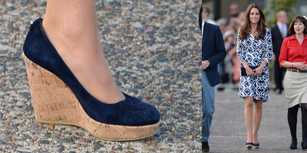 Kate Middleton Stuart Weitzman zeppe sughero