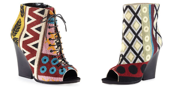 Burberry tapestry bootie