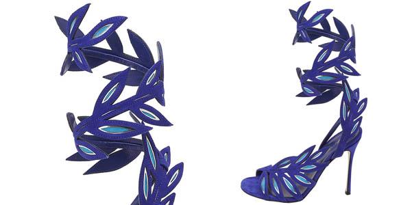 Sergio Rossi foglie blu
