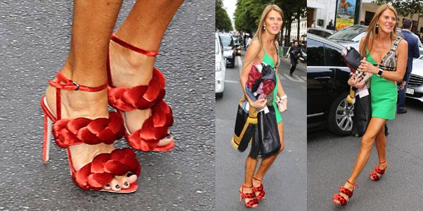 Anna Dello Russo sandali Marco de Vincenzo