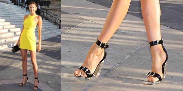 Irina Shayk Versace Lucite