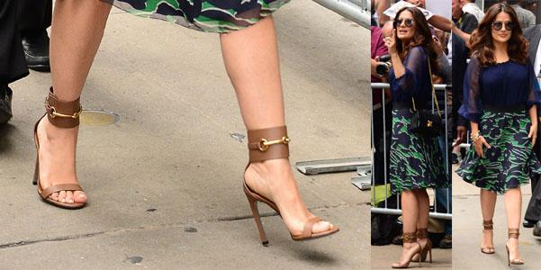 Salma Hayek Gucci Ankle sandali