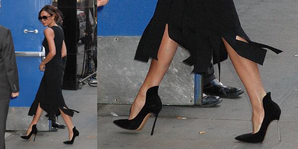 Victoria Beckham Casadei Blade con tacco diverso