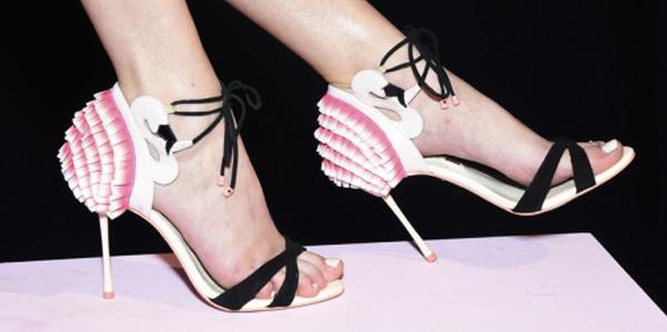 I sandali fenicottero di Sophia Webster