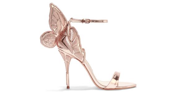 Le farfalle di Sophia Webster in oro ricamato