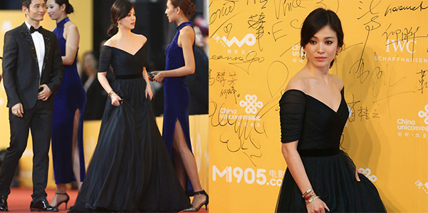 Song Hye Kyo in Jenny Packham
