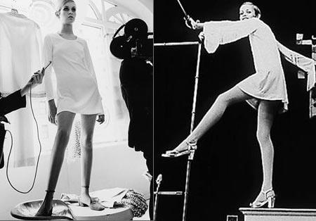 Twiggy icona della moda anni '60