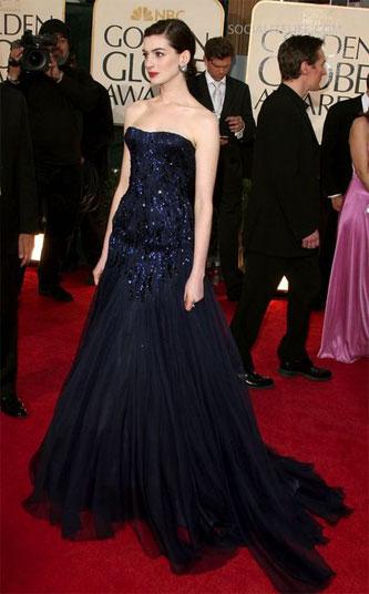 2009 Golden Globes Anne Hathaway. Anne Hathaway 2009 Golden